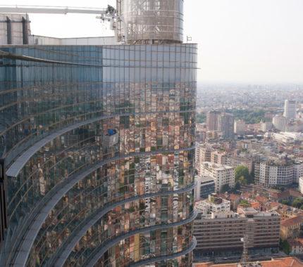 Ponteggi motorizzati - Unicredit Tower